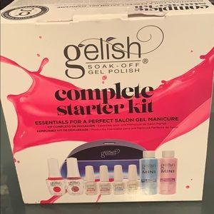 gelish soak off gel polish complete starter kit!